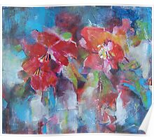 Flowers Painting - Bright Colours Poster
