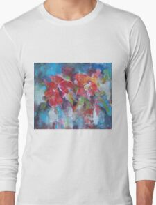 Flowers Painting - Bright Colours Long Sleeve T-Shirt