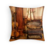 The Violin and the Accordian Throw Pillow