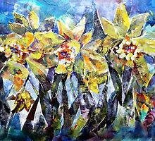 Daffodils - Flowers Art Gallery by Ballet Dance-Artist