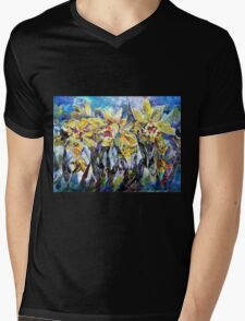 Daffodils - Flowers Art Gallery Mens V-Neck T-Shirt