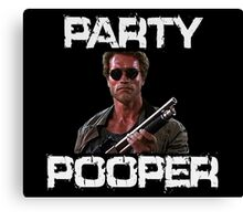 Kindergarten Cop Shirt - Party Pooper T Shirt Canvas Print