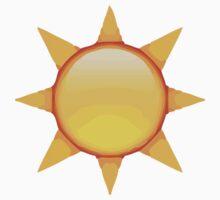 Black Sun With Rays Apple / WhatsApp Emoji Kids Clothes