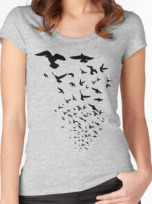 The Birds Women's Fitted Scoop T-Shirt