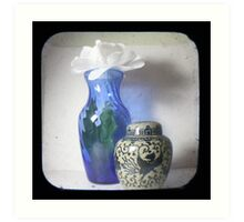 Still Life With Blue Vase TTV Art Print