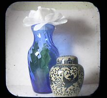 Still Life With Blue Vase TTV by Judi FitzPatrick