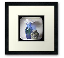Still Life With Blue Vase TTV Framed Print
