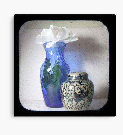 Still Life With Blue Vase TTV Canvas Print