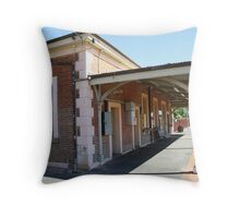 Elmore Railway Station Throw Pillow