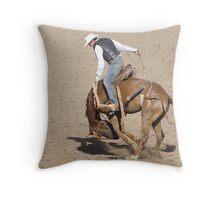 Poley buckjump Taralga Rodeo 2009 Throw Pillow