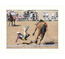 this is going to hurt Taralga Rodeo 2009 Art Print