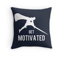 Get Motivated Throw Pillow