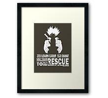 Future Trunks - Rescue Framed Print