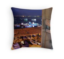 Vista di Mar Piccolo Throw Pillow