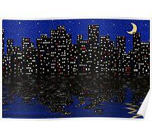 City Night Lights Poster