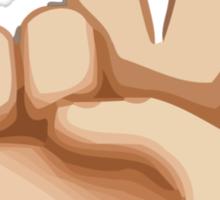 Victory Hand Apple / WhatsApp Emoji Sticker