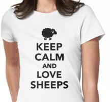 Keep calm and love sheeps Womens Fitted T-Shirt