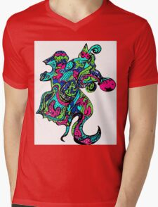 Abstract Seahorse Mens V-Neck T-Shirt