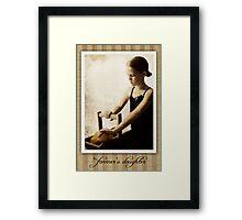 The Farmer's Daughter Framed Print