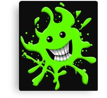 Splat Smile Canvas Print