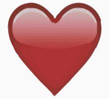 Heavy Black Heart Apple / WhatsApp Emoji Kids Clothes