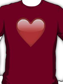 Heavy Black Heart Apple / WhatsApp Emoji T-Shirt