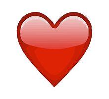 Heavy Black Heart Apple / WhatsApp Emoji by emoji