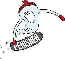 Perisher Shred Yeti by Daniel O'Keefe