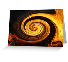 Spun fire Greeting Card
