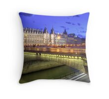 Isle de Cite, Paris Throw Pillow