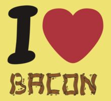 Bacon. I love it! One Piece - Short Sleeve