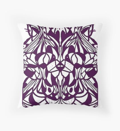 CATZ RULE COLOURING-IN PIC Throw Pillow
