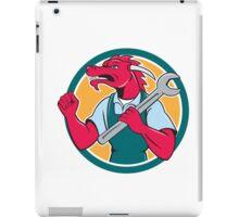 Red Dragon Mechanic Spanner Fist Pump Circle iPad Case/Skin