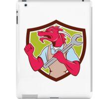 Red Dragon Mechanic Spanner Fist Pump Shield iPad Case/Skin
