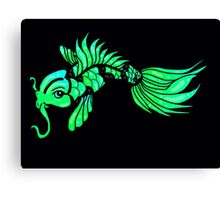 Green Koi Fish Canvas Print