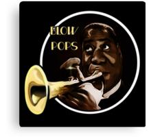 Louis Armstrong - Blow Pops Canvas Print