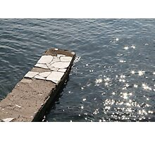 Water and the old jetty Photographic Print
