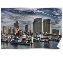 San Diego Harbor Poster