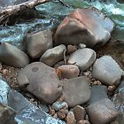 Boulders at Nancy Brook by Wayne King