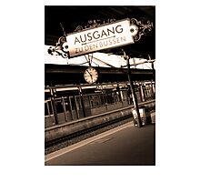 Baden Baden Train station Germany Photographic Print