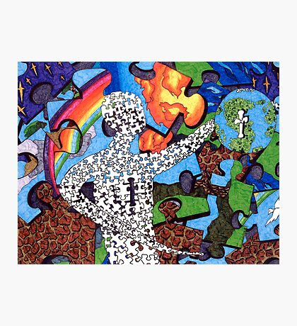 """Puzzle Man"" Photographic Print"