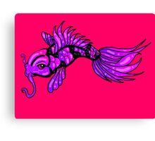 Purple Koi Fish Canvas Print