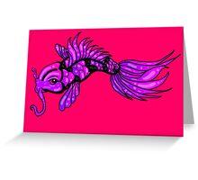 Purple Koi Fish Greeting Card