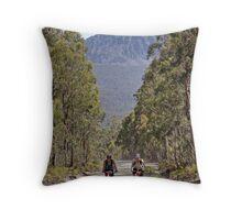 Beneath Craggy Peaks Throw Pillow