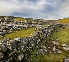 Above Malham Cove - Yorkshire by eddiej