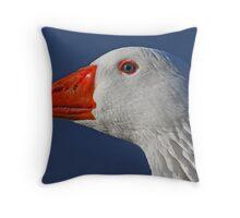 Snow Goose Close Up Throw Pillow