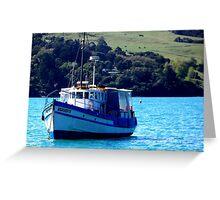 Fishing Trawer Akaroa, New Zealand Greeting Card