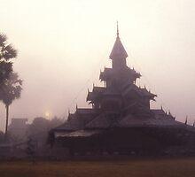 Wat at Dawn, Mae Hong Son, Thailand. by Peter Stephenson