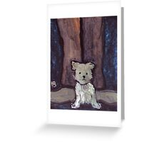 Small Dog Big Feet Greeting Card