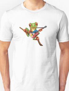Tree Frog Playing Filipino Flag Guitar Unisex T-Shirt